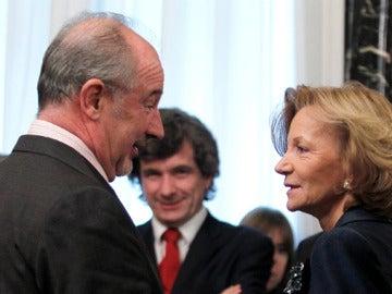 Elena Salgado junto a Rodrigo Rato