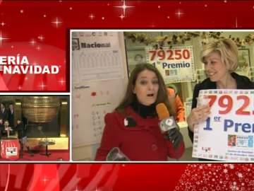 El gordo de Navidad 79250 se reparte también en Zaragoza