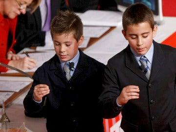 Los niños que han cantado el Gordo, Iván Quintero y Andreas López