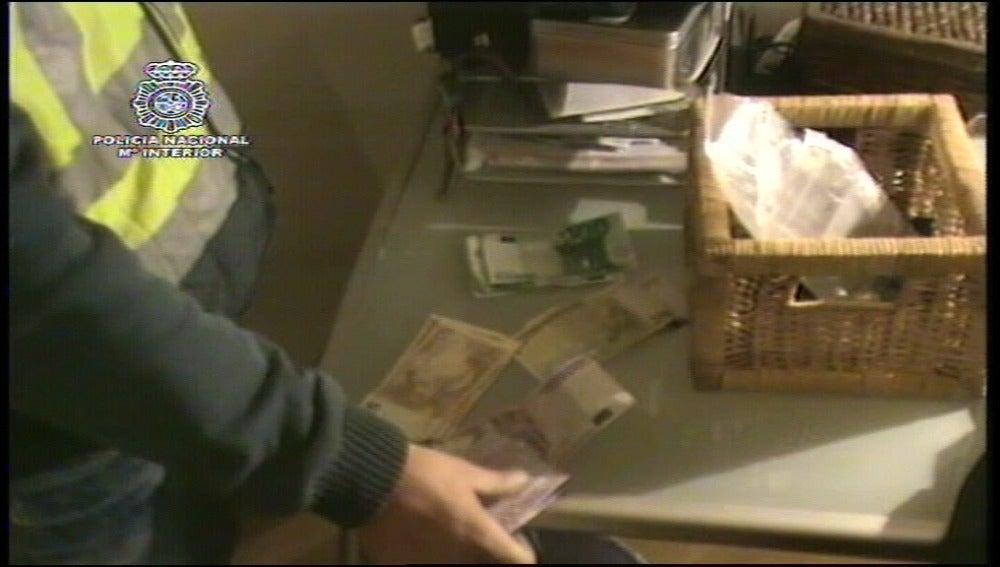 Dinero incautado en la 'operación caloco'