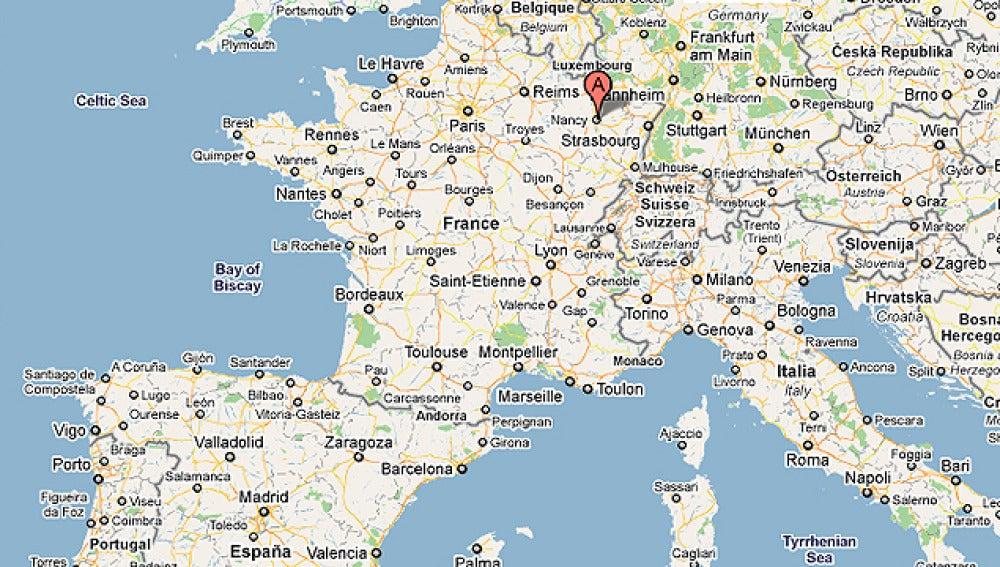 La ciudad francesa de Nancy (Departamento 54)