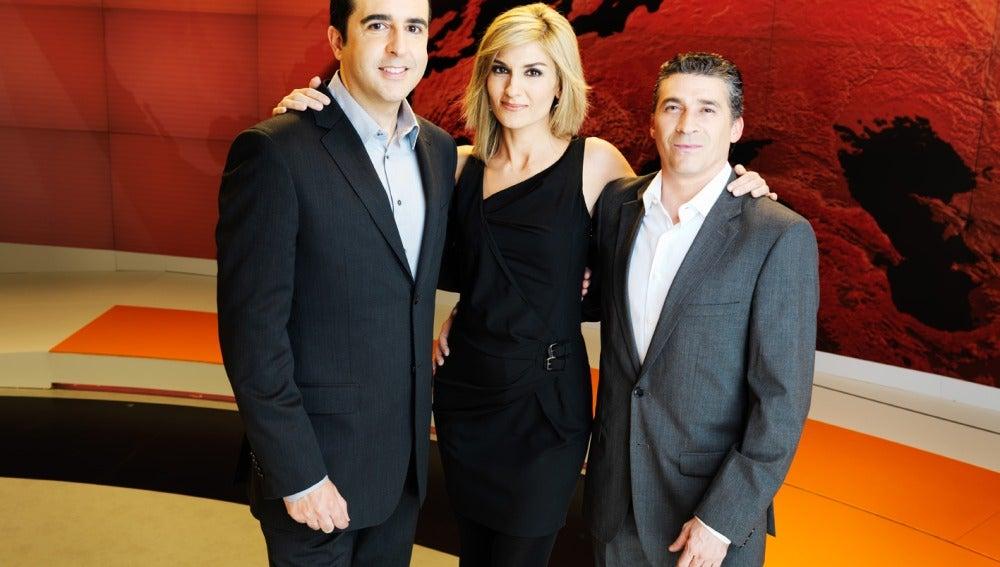 Luis Fraga, Sandra Golpe y Javier Alba