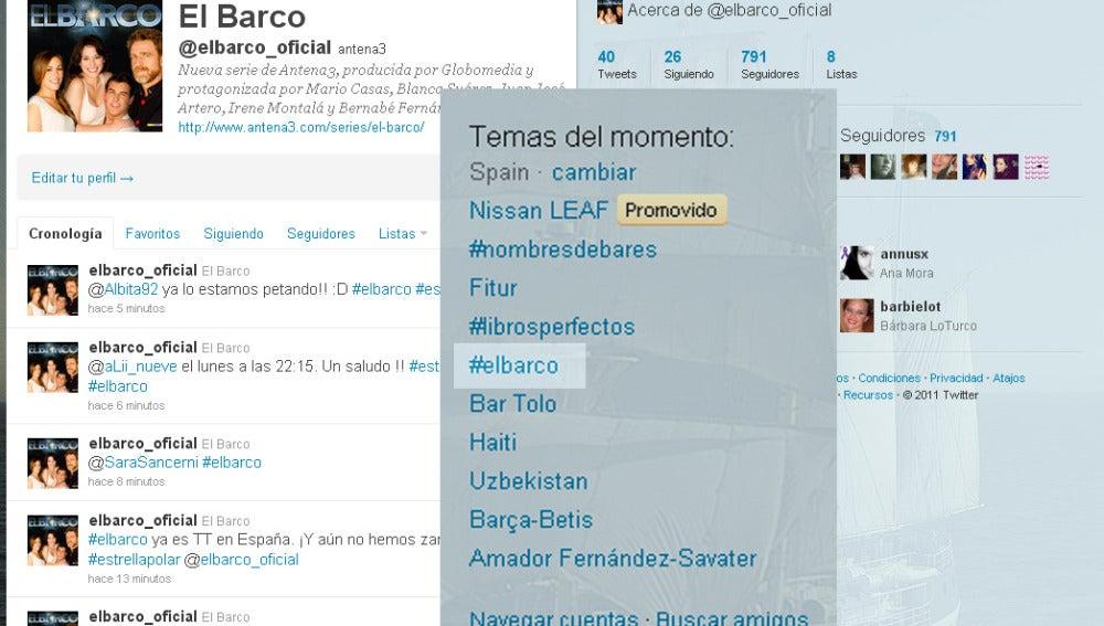 #elbarco es Trending Tópic