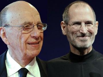 Rupert Murdoch y Steve Jobs