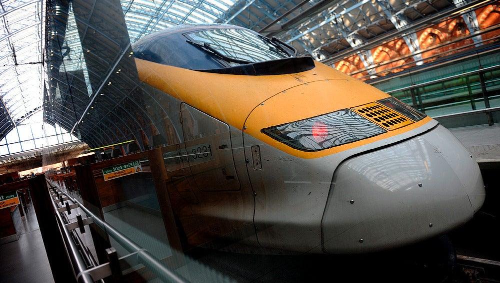 Un tren de los que circula en el Canal de la Mancha