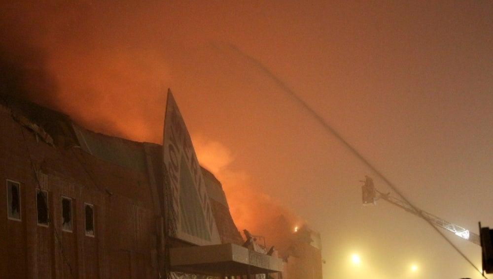 Incendio en el Leroy Merlin de Majadahonda
