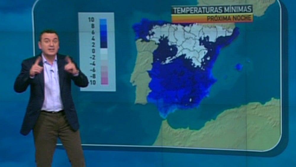 La previsión del tiempo, 19-01-2011, noche