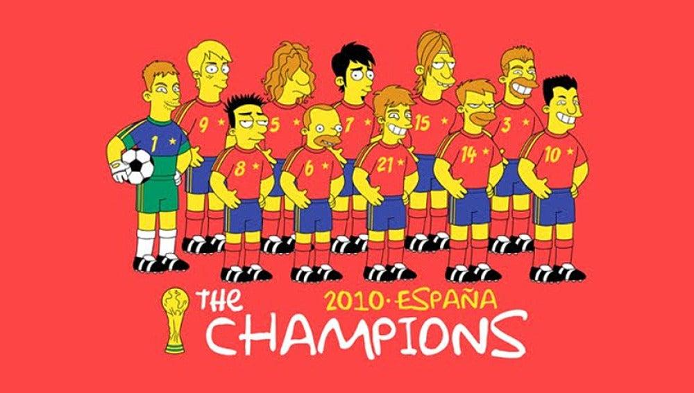 'La Roja' en Los Simpsons