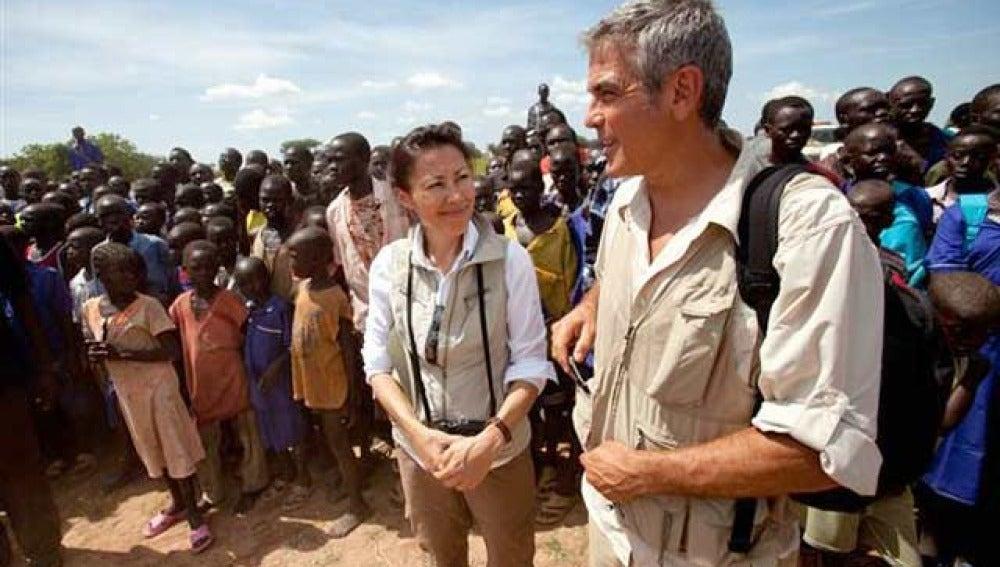 George Clooney tiene malaria