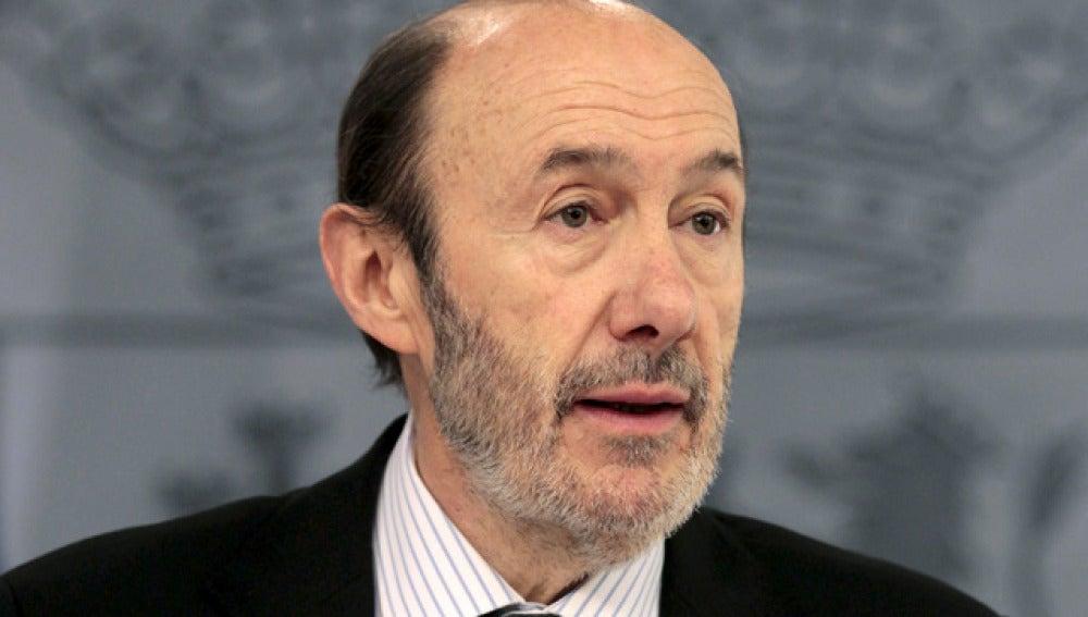 El vicepresidente primero del Gobierno y ministro del Interior, Alfredo Pérez Rubalcaba