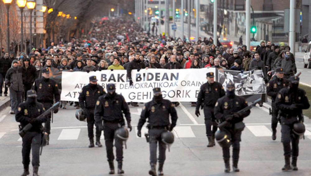 Manifestación en Pamplona contra las detenciones y por un proceso democrático