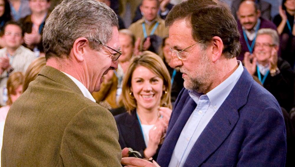 Gallardón y Rajoy en la Convención del PP