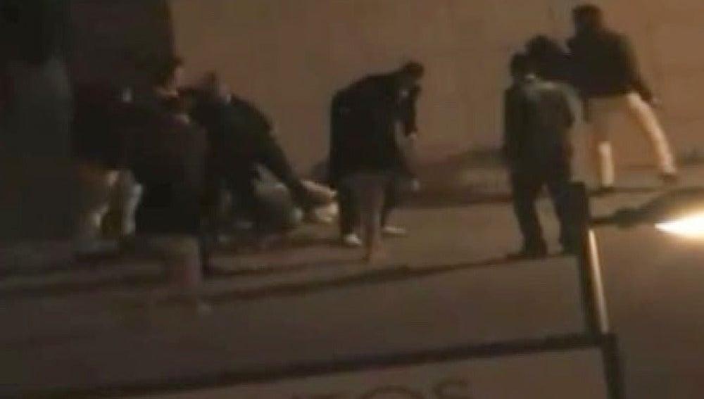 Brutal pelea en Granada