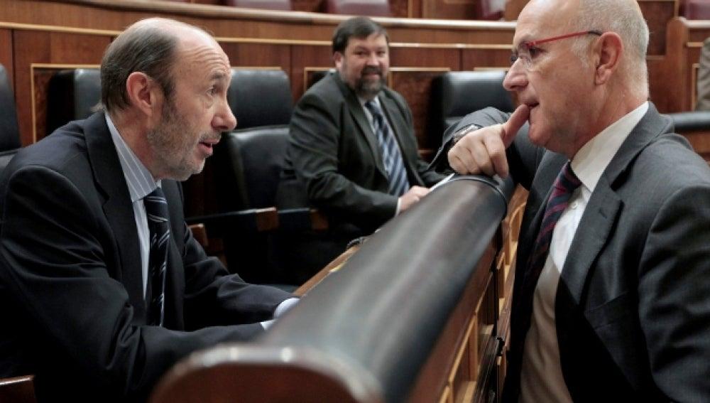Duran i Lleida y Alfredo Pérez Rubalcaba