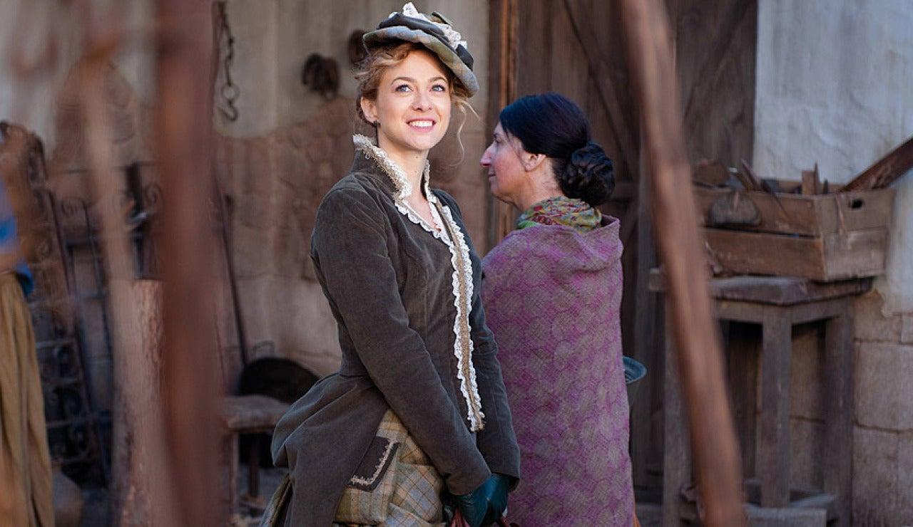 Sara Reeves a su llegada a Arazana