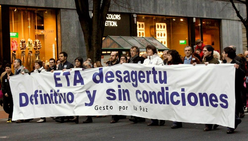 Gesto por la Paz pide un final sin condiciones para ETA