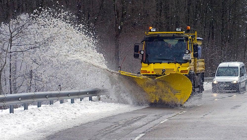 Importantes nevadas en el centro peninsular