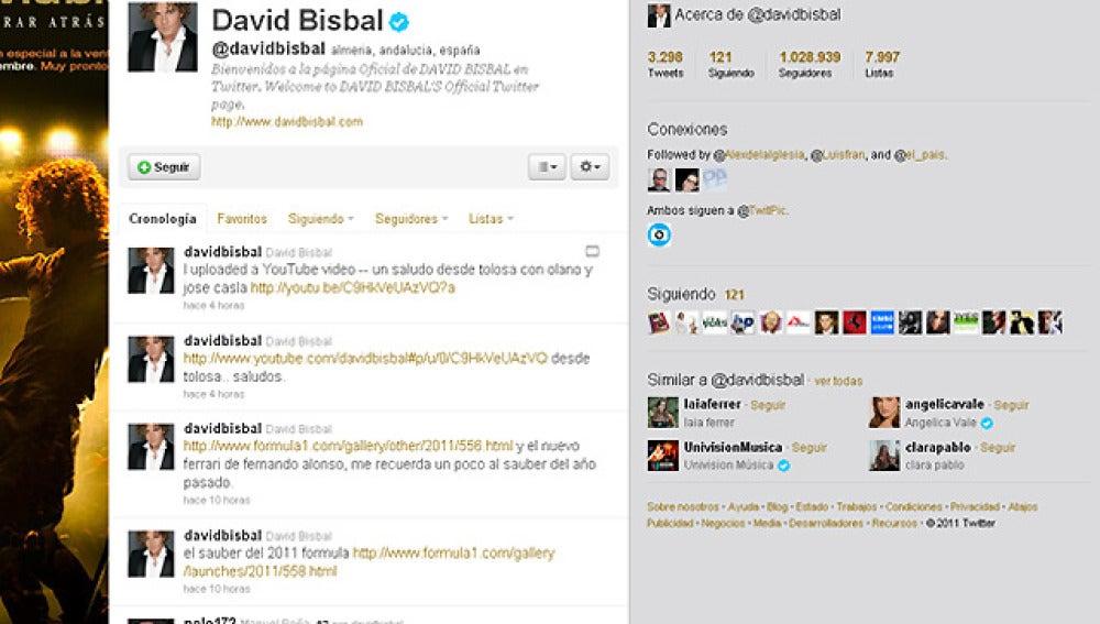 El twitter de Bisbal