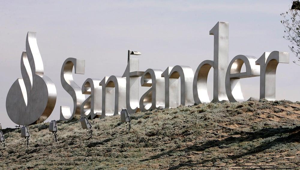 Vista del logotipo del Grupo Santander