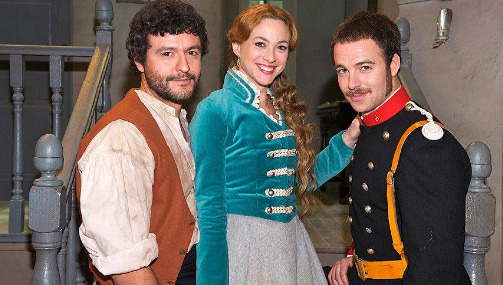 Sara, Roberto y Miguel