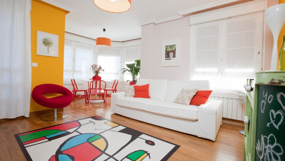 Sala con color y vida