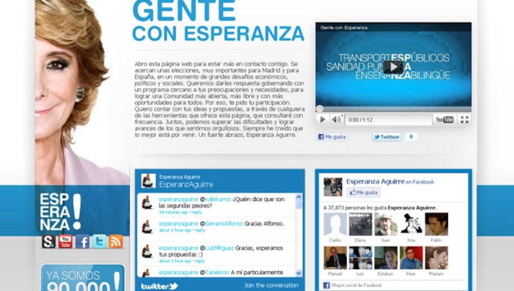 Home de la web 'Gente con Esperanza'