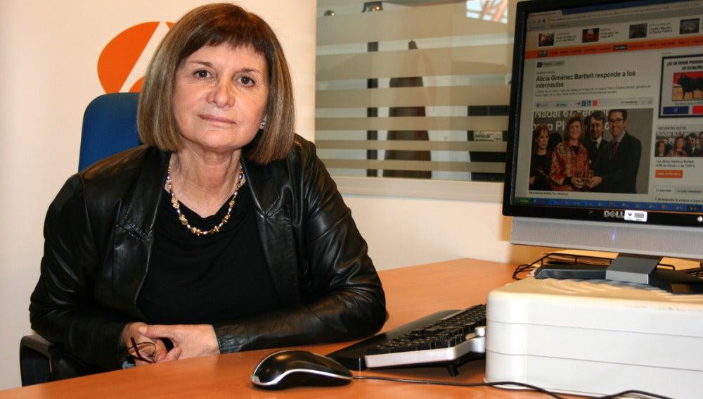 Alicia Giménez durante el encuentro digital