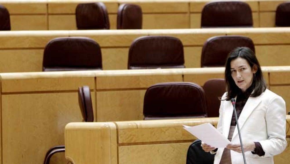 Ángeles González Sinde, en la sesión de control del Senado