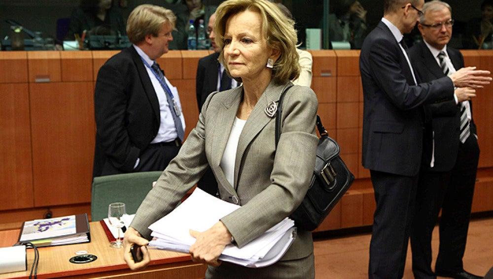 Salgado en el consejo de ministros en Bruselas