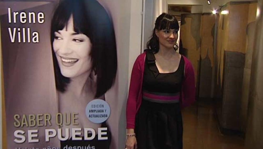 Irene Villa en la presentación de su libro