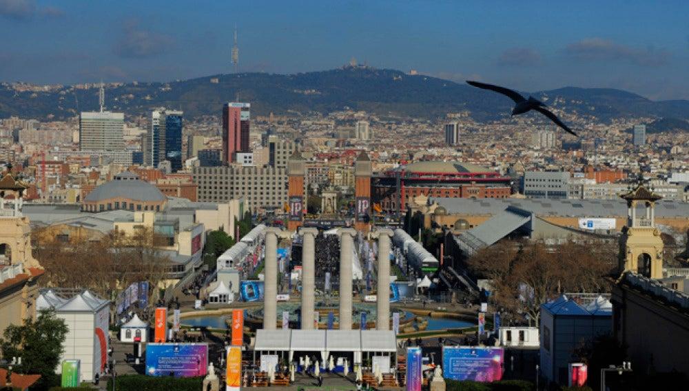 Imagen panorámica de la ciudad de Barcelona