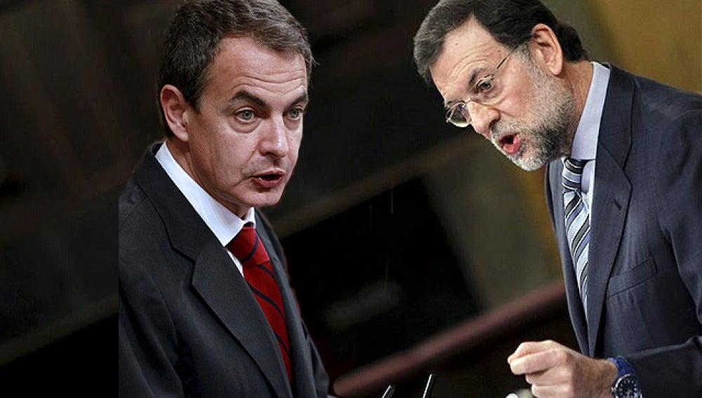 Rifirrafe entre Zapatero y Rajoy