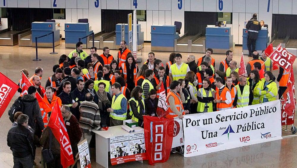 Contra la privatización de AENA