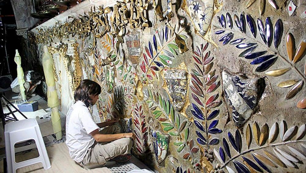 El mural de Gaudí, en la Catedral de Mallorca
