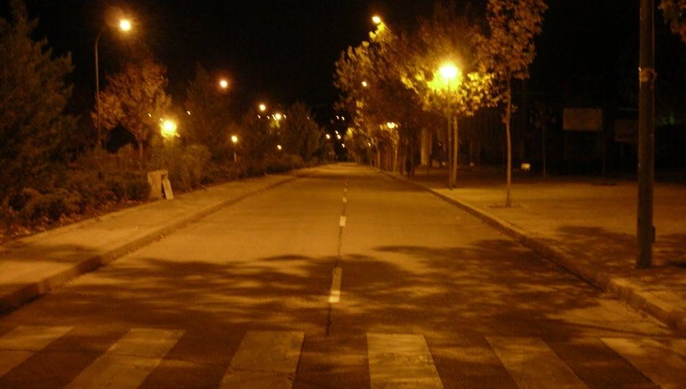 Una calle de noche