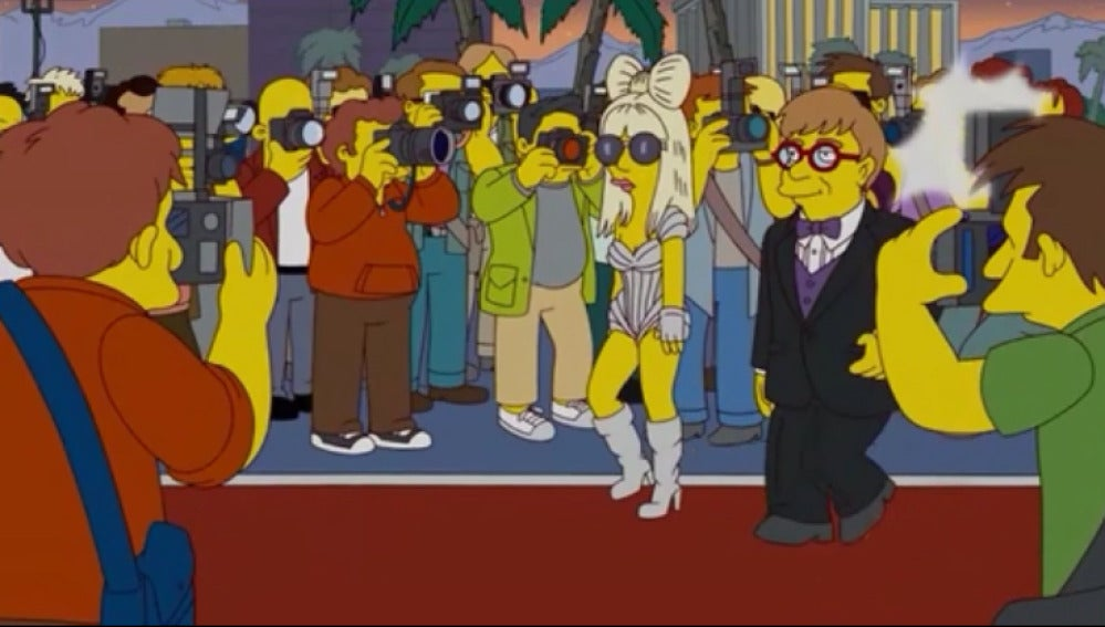 Lady Gaga en Los Simpson