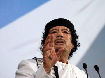 El lider libio Muamar al Gadafi