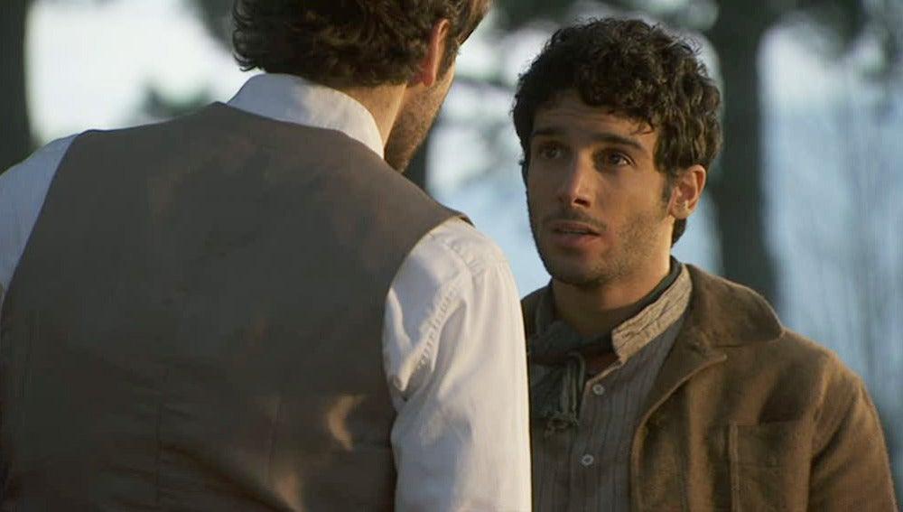 Tristán salva a Juan de las palizas de Mauricio