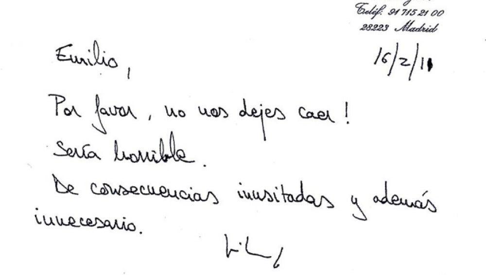 Carta de Ruiz Mateos a Botín