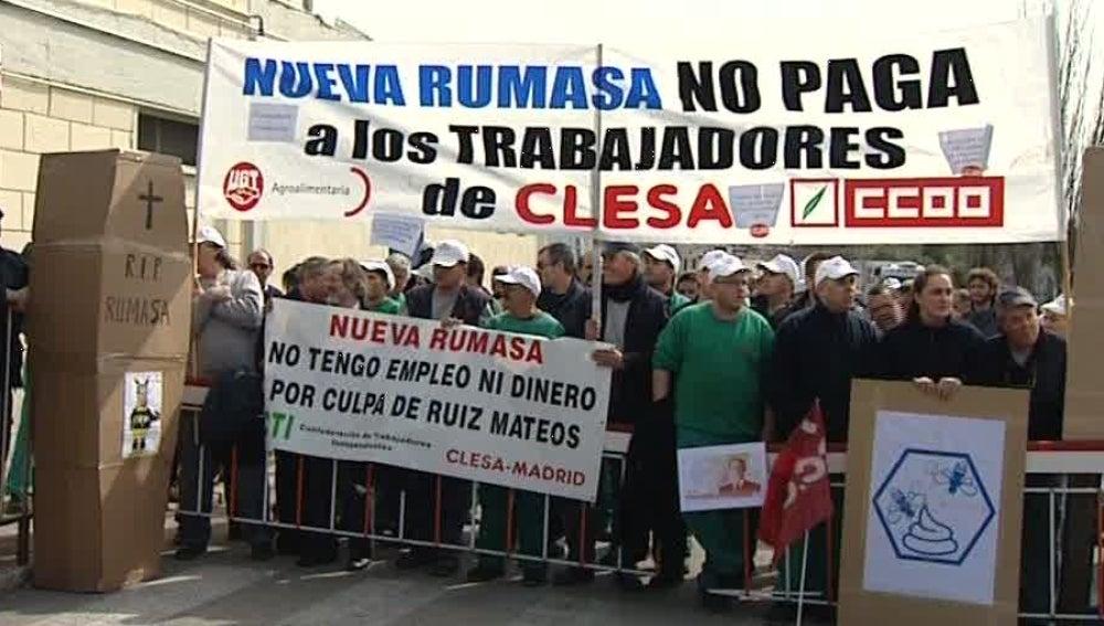 Los trabajadores de CLESA se manifiestan