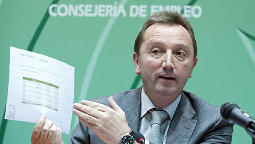 El consejero de Empleo andaluz, Manuel Recio