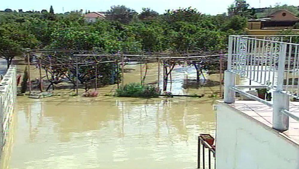 Atrapados por las lluvias en Málaga