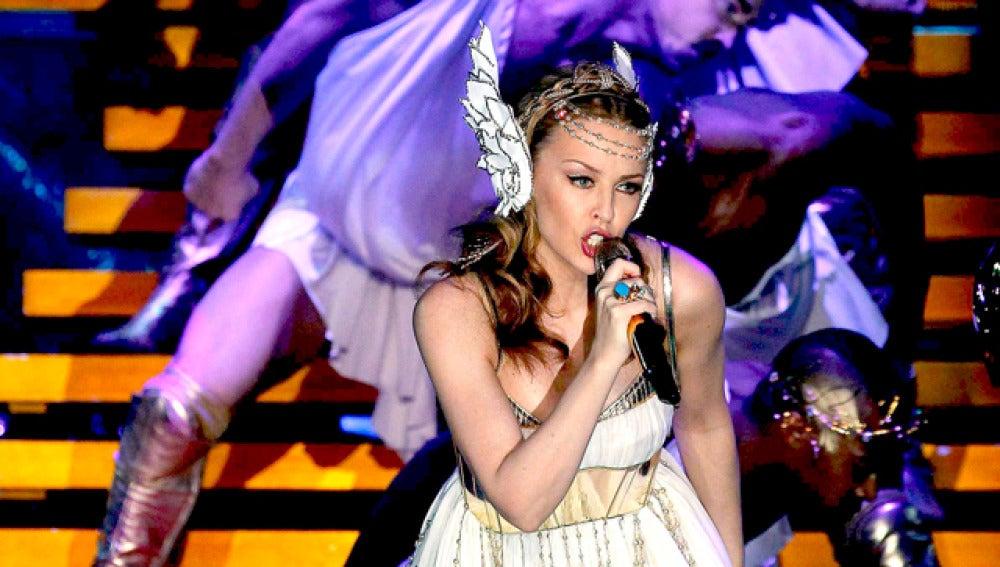Kylie Minogue, en su concierto de Barcelona