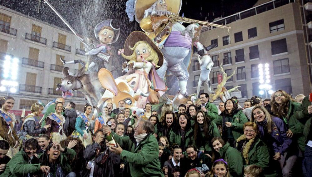 Falla ganadora en Valencia