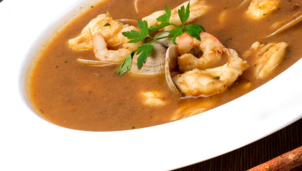 Sopa de pescado Txema Olazabal