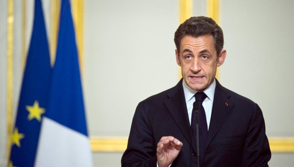 Declaración de Sarkozy