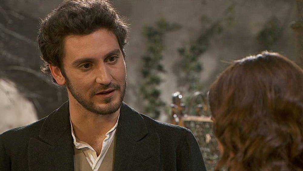 Tristán vuelve a confesarle su amor a Pepa