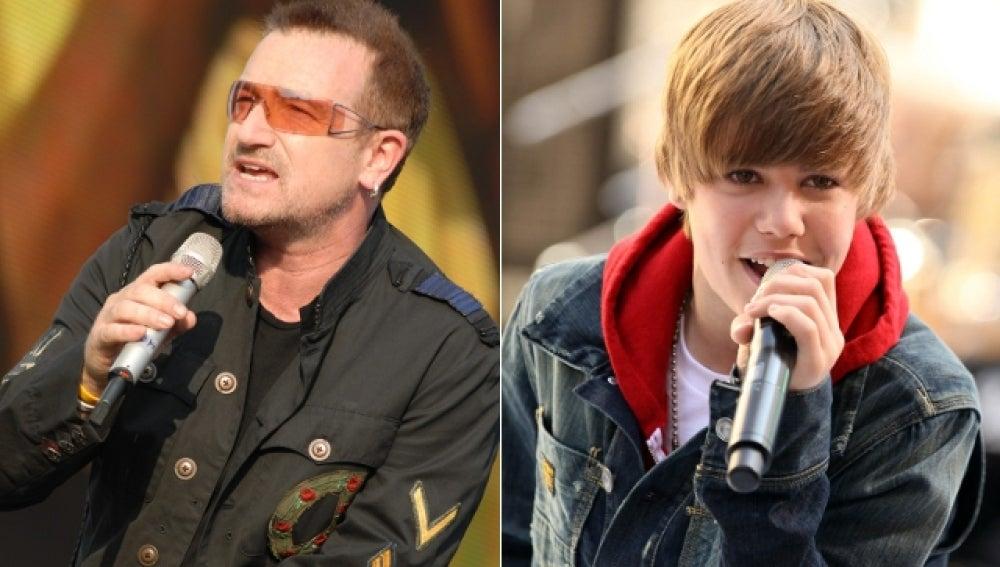 U2 y Justin Bieber