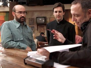 Nacho García Velilla con Javier Cámara y Julián López