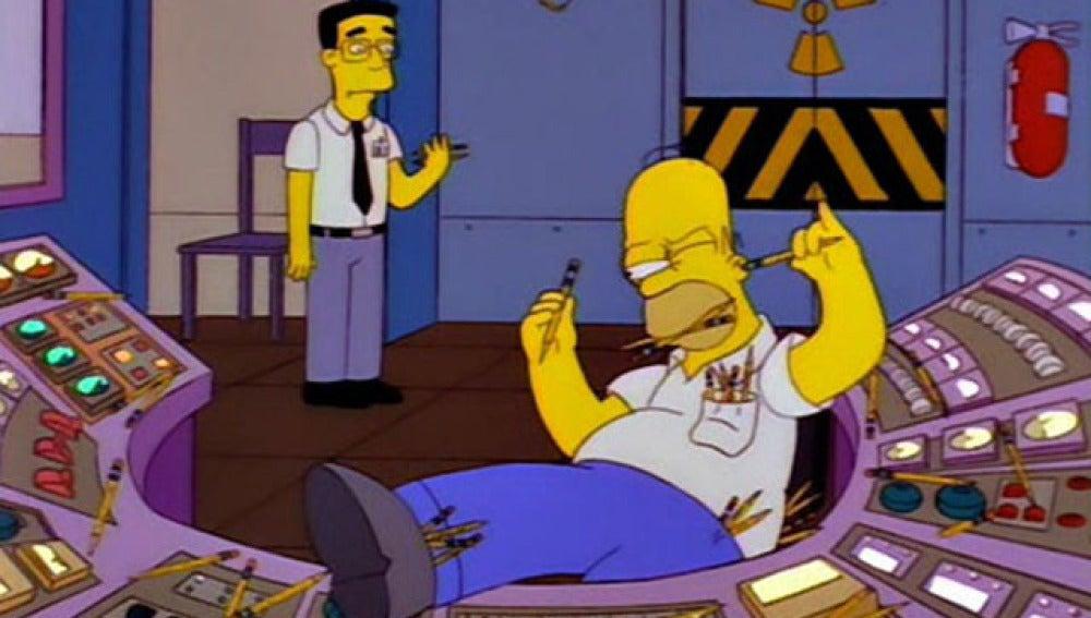Homer, en el trabajo